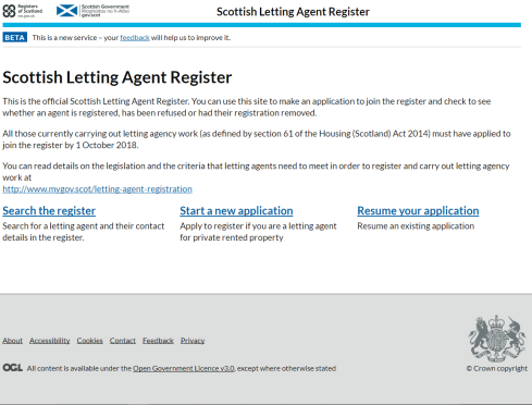 letting agent register site